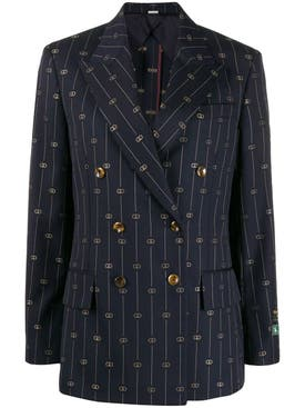 Gucci - Striped Navy Blazer - Women