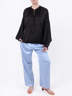 Blue Striped Pajama Pants