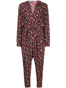 ALL IN ONE BLOSSOM PRINT JUMPSUIT MULTICOLOR BERRY