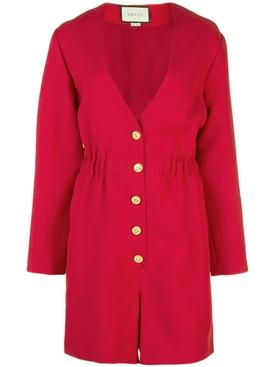 red short jumpsuit