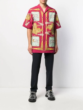 Multicolored bowling shirt