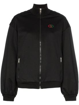 logo sports jacket black