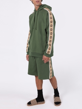 GG Sleeve Panel Hoodie ASPARAGUS GREEN