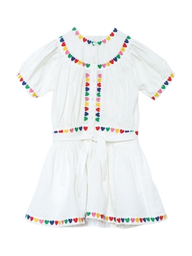 Kids Multicolored Hearts Print Dress