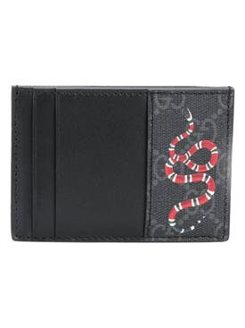 Gucci - Kingsnake Gg Logo Cardholder Black - Men