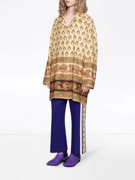 Oversized Silk Paisley Print Shirt