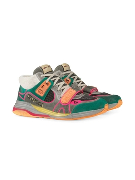 Green Multicolored Ultra Pace Sneakers
