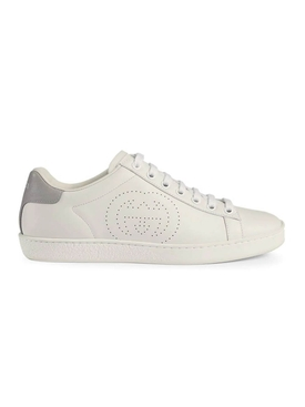 white and grey ace sneaker