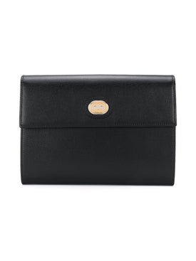 Gucci - Gg Logo Plaque Clutch - Women