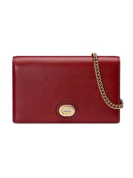 crossbody chain wallet CHERRY RED