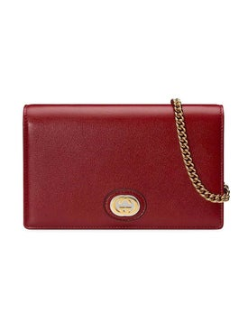 Gucci - Crossbody Chain Wallet Cherry Red - Women