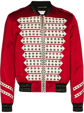 Red Officer Bomber Jacket