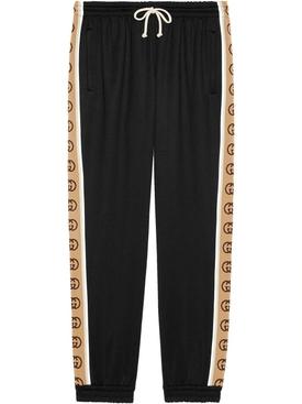 Logo tape jogger pants BLACK/MULTICOLOR