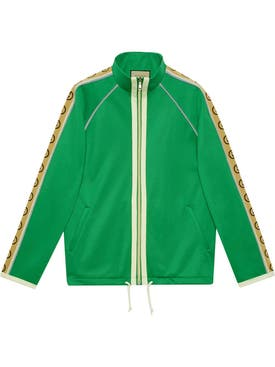 Gucci - Logo Tape Track Jacket Clover Green - Men