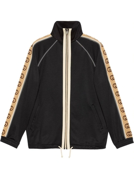 Logo tape track jacket BLACK/MULTICOLOR