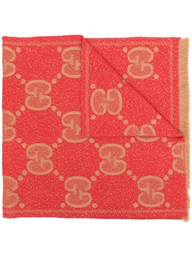 Metallic GG Supreme logo-print scarf
