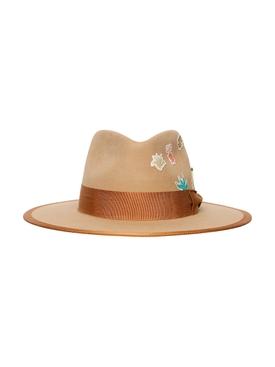 Aqua fino garden patch felt hat