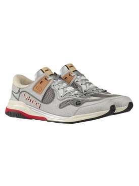 Silver ultrapace low-top sneakers
