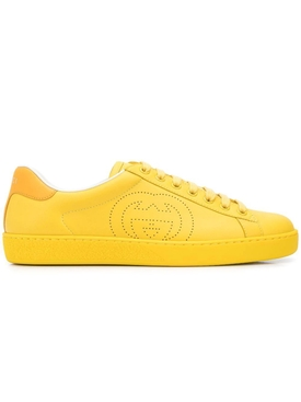 Perforated logo sneakers YELLOW