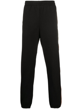 Gucci - Black Mesh Gg Logo Jogger Pants - Men