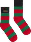 Gucci - Gg Striped Logo Socks - Men