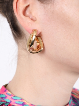 Gold-tone twirl earrings