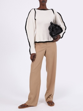 Camel High-Waisted Pants