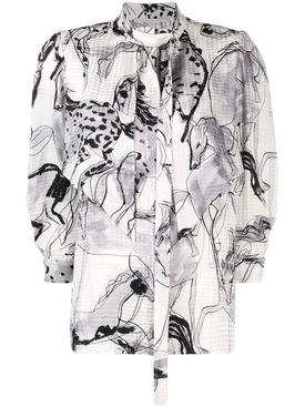 Stella Mccartney - Grey Horse Print Blouse - Women