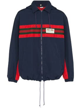 Gucci - Navy And Red Stripe Hooded Jacket - Men