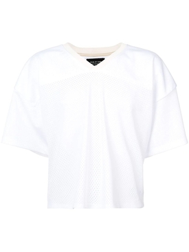 White Mesh Football Jersey Top WHITE