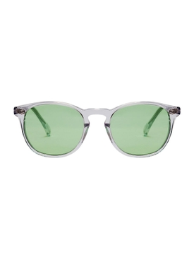 PANTO EARTH GREEN SUNGLASSES