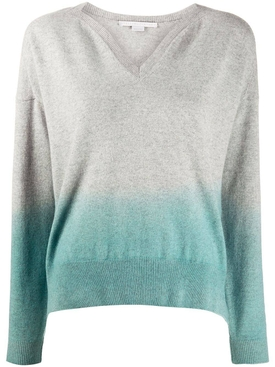 Grey & blue dip dye sweater