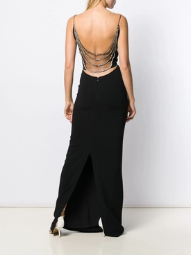 Black Crystal Embellished Gown