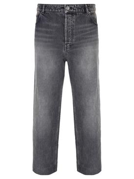 Cropped denim pants, DIRTY VINTAGE BLACK