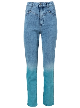 Stella Mccartney - High-waisted Ombre Acid Wash Jeans - Women