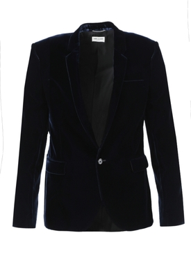 Navy tailored blazer jacket