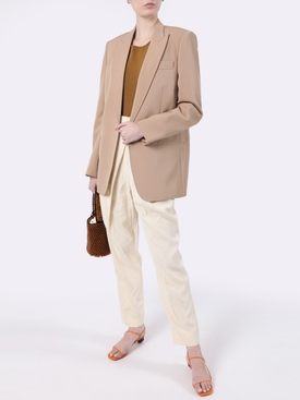 Beige one-button blazer