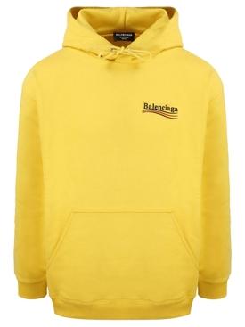 Medium Fit Logo Hoodie Yellow