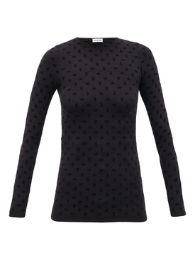 BB Logo Long-Sleeve Top Black