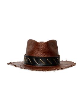 Mole Dark Brown Straw Hat
