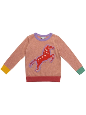 Kid's Horse Multicolor Pink sweatshirt