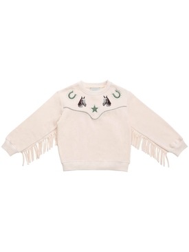 Kid's fringed horse sweatshirt