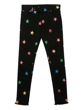 Kid's multicolor star print denim