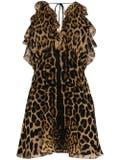 Saint Laurent - Silk Leopard Print Mini Dress - Women