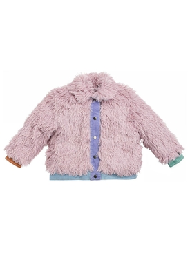 Kid's Multicolored pastel faux fur jacket