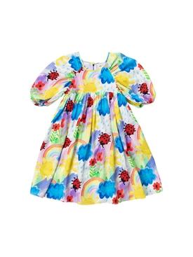 Kid's puff sleeve weather Tencel dress