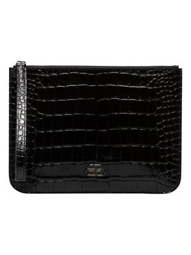 Balenciaga - Bb Croc-embossed Clutch - Women