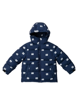 Kid's cartoon eyes puffer jacket
