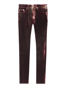 Burgundy Skinny Pants