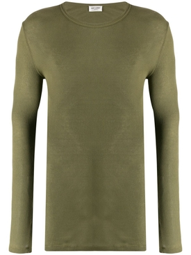 long sleeve ribbed T-shirt GREEN